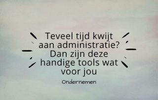 administratie tools ondernemen